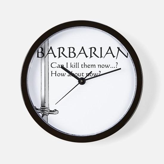 Barbarian Black Wall Clock