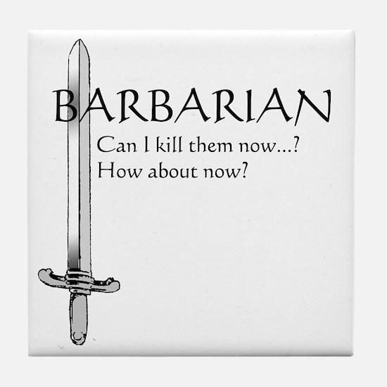Barbarian Black Tile Coaster