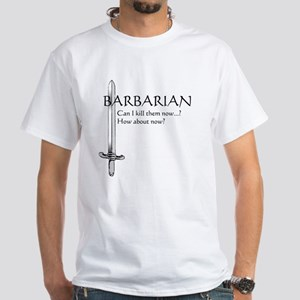 Barbarian Black White T-Shirt