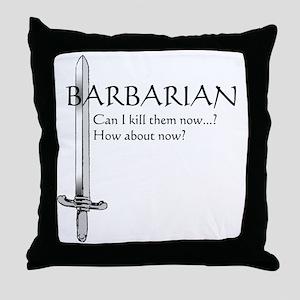 Barbarian Black Throw Pillow