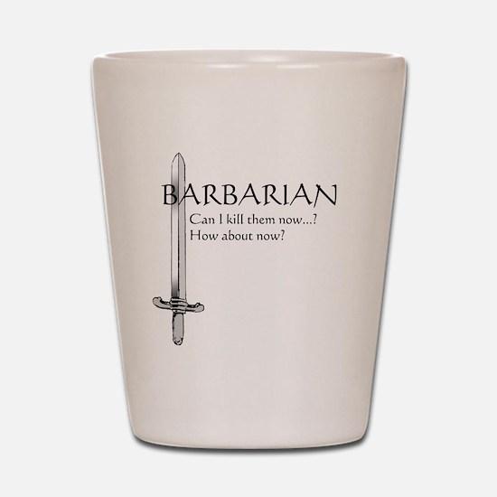 Barbarian Black Shot Glass
