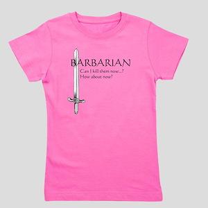 Barbarian Black Girl's Tee
