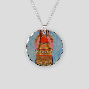 MalinaPrint Necklace Circle Charm
