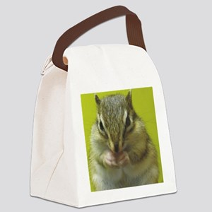 chipmunk squ Canvas Lunch Bag