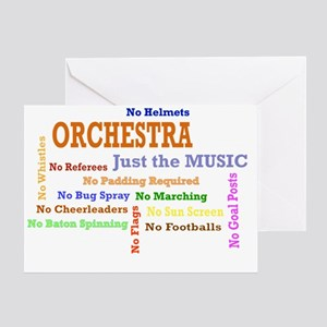 orch_just_the_music Greeting Card