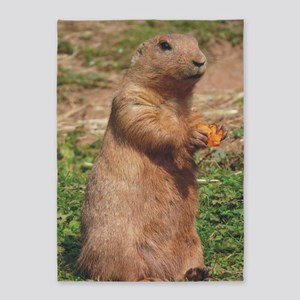 prairie dog larger 5'x7'Area Rug