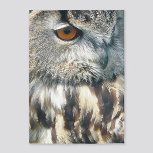 owl large 5'x7'Area Rug