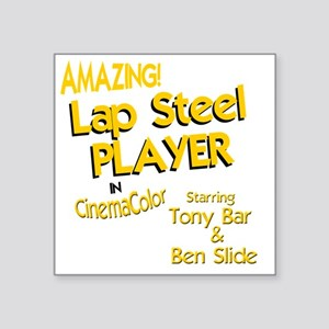 "funny lap steel guitar Square Sticker 3"" x 3"""