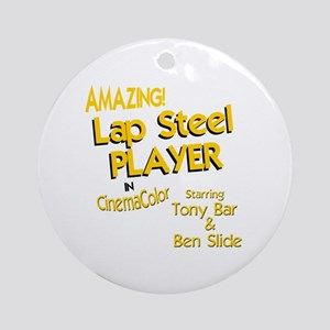 funny lap steel guitar Round Ornament