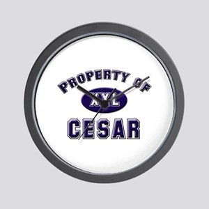 Property of cesar Wall Clock