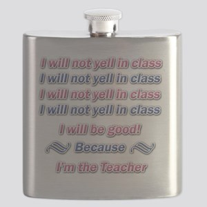 Yelling In Class Pink and blue copy Flask