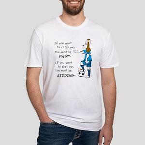 Soccer Dog Kidding Larry black Fitted T-Shirt