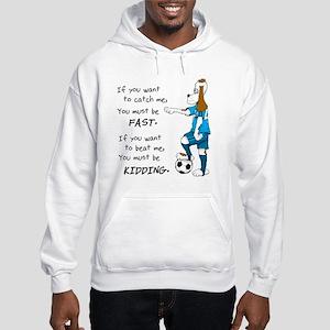 Soccer Dog Kidding Larry black Hooded Sweatshirt