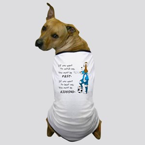 Soccer Dog Kidding Larry black Dog T-Shirt