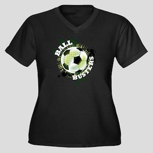 SoccerBallBu Women's Plus Size Dark V-Neck T-Shirt