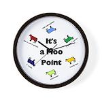 It's a Moo Point Wall Clock