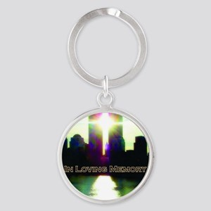 TWIN TOWERS POSTER FOR ALEX 7 1 201 Round Keychain