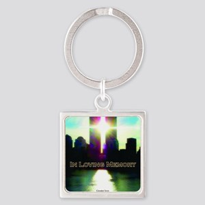 TWIN TOWERS POSTER FOR ALEX 7 1 20 Square Keychain