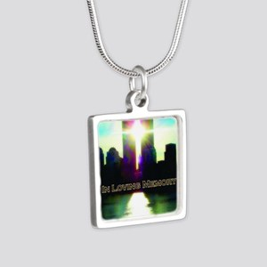 TWIN TOWERS POSTER FOR ALE Silver Square Necklace