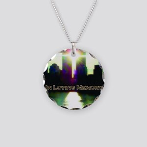 TWIN TOWERS POSTER FOR ALEX  Necklace Circle Charm