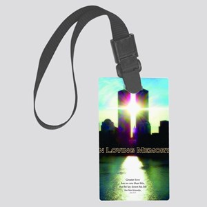 TWIN TOWERS POSTER FOR ALEX 7 1  Large Luggage Tag