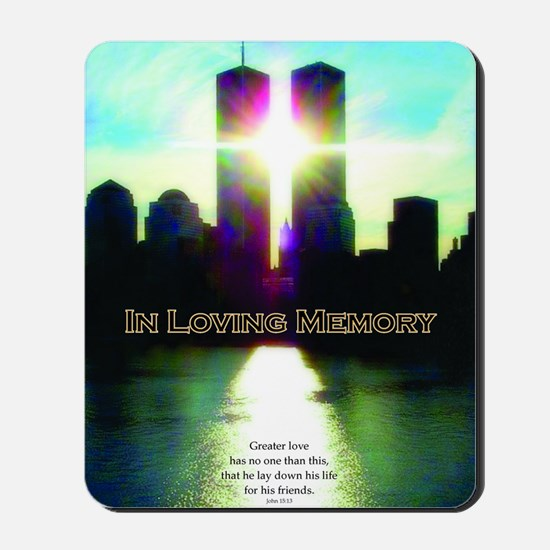 TWIN TOWERS POSTER FOR ALEX 7 1 2011 Mousepad