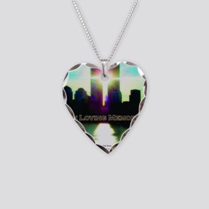 TWIN TOWERS POSTER FOR ALEX 7 Necklace Heart Charm