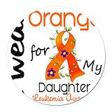Leukemia daughter Round Car Magnets