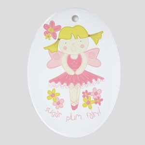 Sugar Plum Fairy Oval Ornament