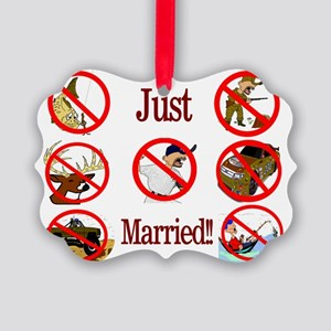 married Picture Ornament