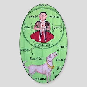 yoga-2 Sticker (Oval)