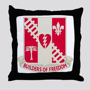 44th Army Engineer Battalion Throw Pillow