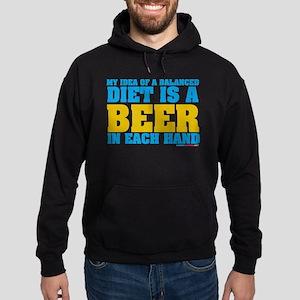 My Idea Of A Balanced Diet Is A Beer Hoodie (dark)