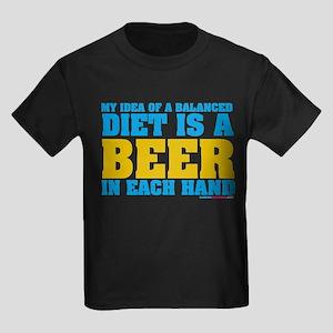 My Idea Of A Balanced Diet Is A Beer Kids Dark T-S