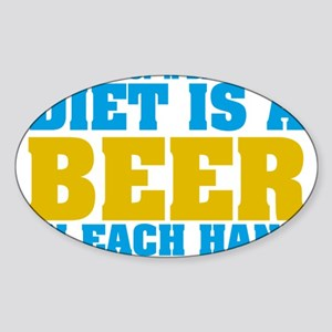 My Idea Of A Balanced Diet Is A Beer Sticker (Oval