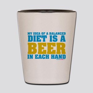 My Idea Of A Balanced Diet Is A Beer Shot Glass