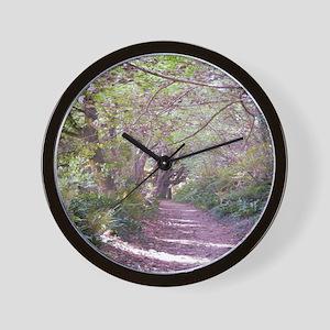 woodwalk square Wall Clock