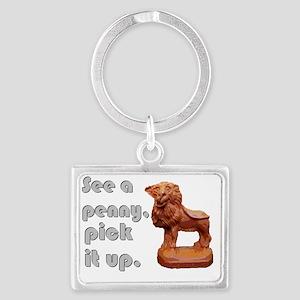 wax lion Landscape Keychain