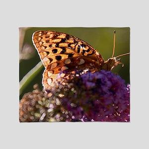 skipper-on-butterfly-bush Throw Blanket