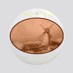 windpower_then_and_now_transparent2 Round Ornament