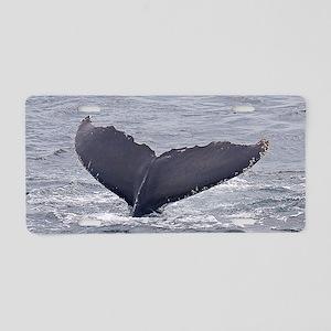 whale-fluke Aluminum License Plate