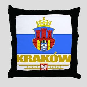Krakow (Flag 10)2 Throw Pillow