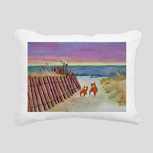 beach set print_edited-1 Rectangular Canvas Pillow