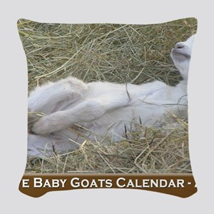 2012 I Love Baby Goats Calenda Woven Throw Pillow