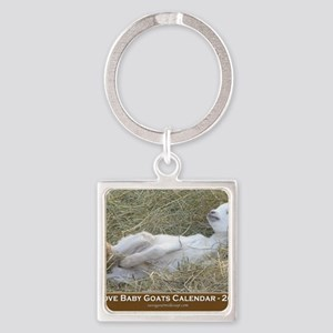 2012 I Love Baby Goats Calendar Square Keychain