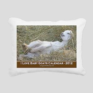 2012 I Love Baby Goats C Rectangular Canvas Pillow