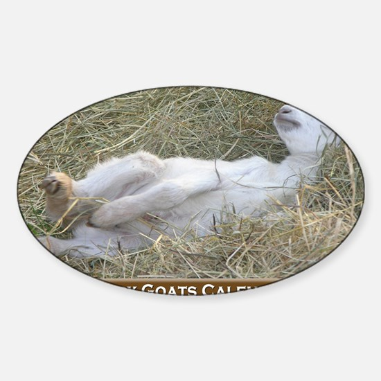 2012 I Love Baby Goats Calendar Sticker (Oval)