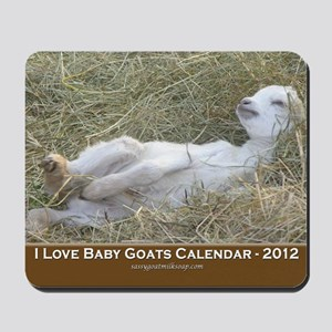 2012 I Love Baby Goats Calendar Mousepad