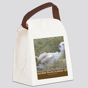 2012 I Love Baby Goats Calendar Canvas Lunch Bag