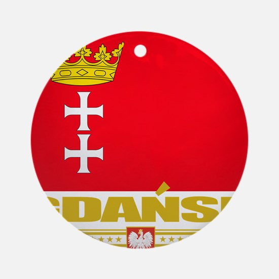 Gdansk Flag (Flag 10) Round Ornament
